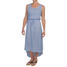 Nomadic Traders High-Low Chiffon Dress - Sleeveless (For Women) in Periwinkle Chevron - Closeouts