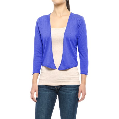Nomadic Traders Island Demi Cardigan Sweater - 3/4 Sleeve (For Women) in Baja Blue