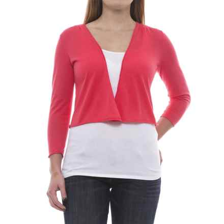 Nomadic Traders Island Demi Cardigan Sweater - 3/4 Sleeve (For Women) in Coral - Closeouts