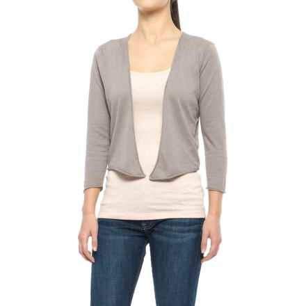 Nomadic Traders Island Demi Cardigan Sweater - 3/4 Sleeve (For Women) in Taupe - Closeouts