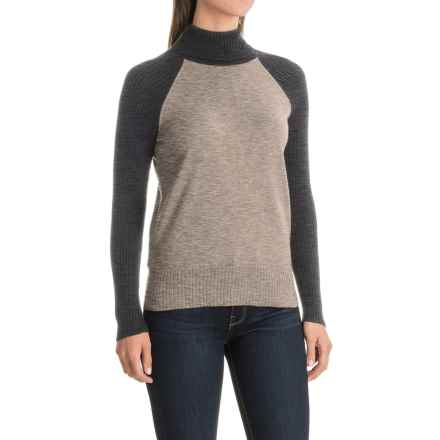 Nomadic Traders Jumpers Color-Block Turtleneck Sweater (For Women) in Birch - Closeouts