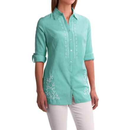 Nomadic Traders Kerala Shirt - Long Sleeve (For Women) in Aqua - Closeouts