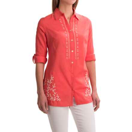 Nomadic Traders Kerala Shirt - Long Sleeve (For Women) in Coral - Closeouts