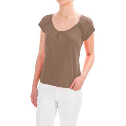 Nomadic Traders Lacy Shirt - Pima Cotton, Short Sleeve (For Women) in Latte - Closeouts