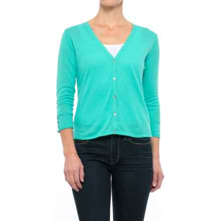 Nomadic Traders Linen-Cotton Cardigan Sweater - Button Cuff (For Women) in Capri - Closeouts