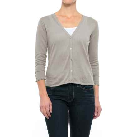 Nomadic Traders Linen-Cotton Cardigan Sweater - Button Cuff (For Women) in Taupe - Closeouts