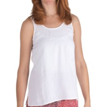 Nomadic Traders Linen-Rayon Pintuck Shell - Sleeveless (For Women) in White - Closeouts