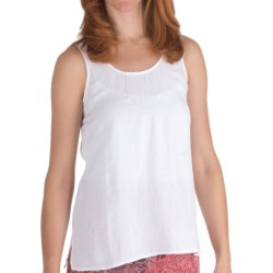 Nomadic Traders Linen-Rayon Pintuck Shirt - Sleeveless (For Women) in White
