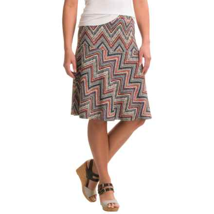 Nomadic Traders Long Weekend Fit-n'-Flare Skirt (For Women) in Chevron - Closeouts