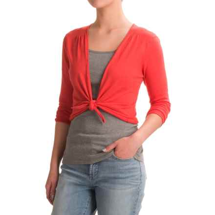 Nomadic Traders Long Weekend Island Demi Sweater - 3/4 Sleeve (For Women) in Guava - Closeouts