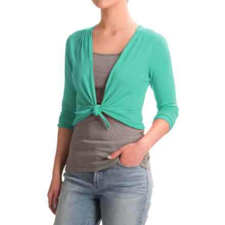 Nomadic Traders Long Weekend Island Demi Sweater - 3/4 Sleeve (For Women) in Seaglass - Closeouts