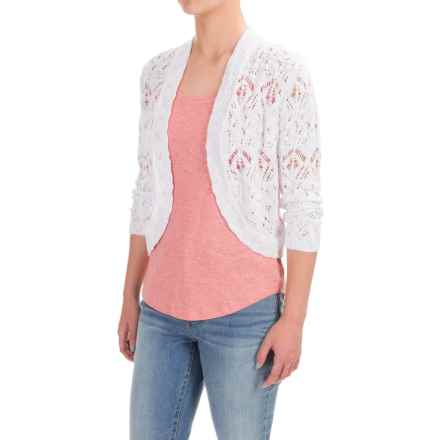 Nomadic Traders Long Weekend Lacy Bolero Sweater (For Women) in White - Closeouts