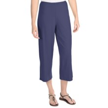 Nomadic Traders Marrakesh Crop Pants - Stretch Jersey (For Women) in Navy - Closeouts
