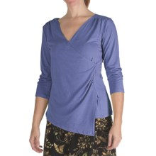 Nomadic Traders Marrakesh Knit Suri Shirt - Stretch Jersey, V-Neck, 3/4 Sleeve (For Women) in Tile Blue - Closeouts