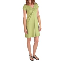 Nomadic Traders Marrakesh Tamara Dress - Stretch Jersey, Short Sleeve (For Women) in Aloe - Closeouts