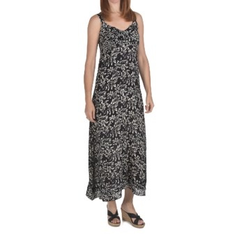Nomadic Traders Maxi Flutter Dress - Rayon, Sleeveless (For Women) in Eclipse