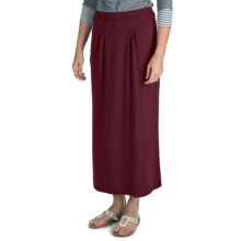 Nomadic Traders Maxi Skirt - Stretch Jersey Knit (For Women) in Bordeaux - Closeouts