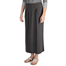 Nomadic Traders Maxi Skirt - Stretch Jersey Knit (For Women) in Charcoal - Closeouts