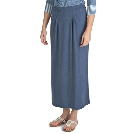 Nomadic Traders Maxi Skirt - Stretch Jersey Knit (For Women) in Black