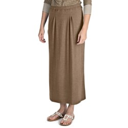 Nomadic Traders Maxi Skirt - Stretch Jersey Knit (For Women) in Denim Heather
