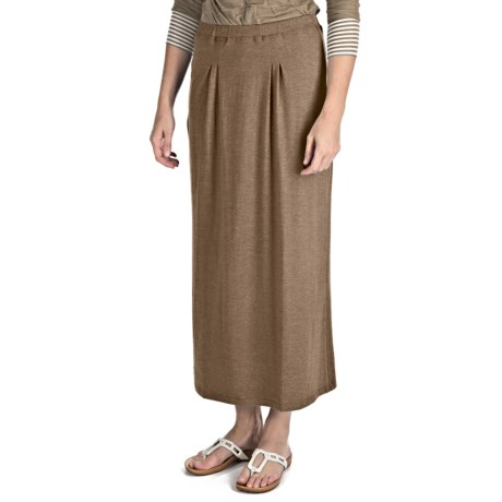 Nomadic Traders Maxi Skirt - Stretch Jersey Knit (For Women) in Java Heather