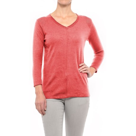Nomadic Traders Mishi Shirt - 3/4 Sleeve (For Women) in Guava