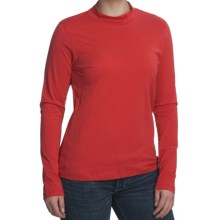 Nomadic Traders Mock Neck Shirt - Pima Cotton, Long Sleeve (For Women) in Red - Closeouts