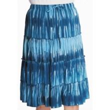 Nomadic Traders Monsoon Four Tier Skirt (For Women) in Tie Dye Aqua - Closeouts