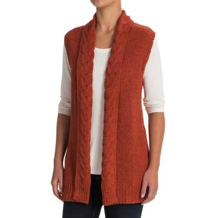 Nomadic Traders Newberry Street Cable-Knit Vest (For Women) in Spice - Closeouts