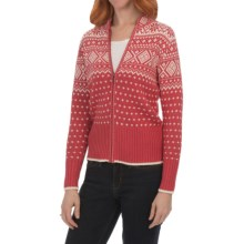 Nomadic Traders North Country Lisbet Cardigan Sweater - Ramie-Cotton, Zip Front (For Women) in Desert Rose - Closeouts