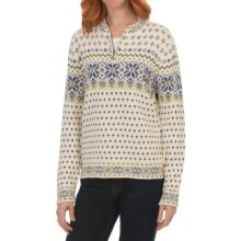Nomadic Traders North Country Nadia Sweater - Zip Neck (For Women) in Lapis/Natural - Closeouts