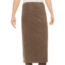 Nomadic Traders Northern Lights Maxi Skirt - Microsuede (For Women) in Twig - Closeouts