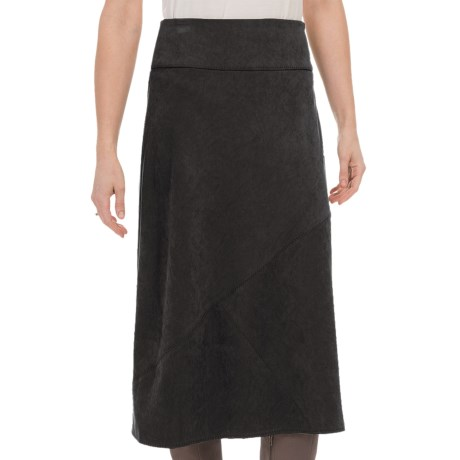 Nomadic Traders Northern Lights Skirt - Microsuede (For Women) in Black