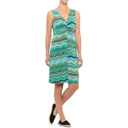 Nomadic Traders NTCO Alana V-Neck Dress - Sleeveless (For Women) in Verdi - Closeouts