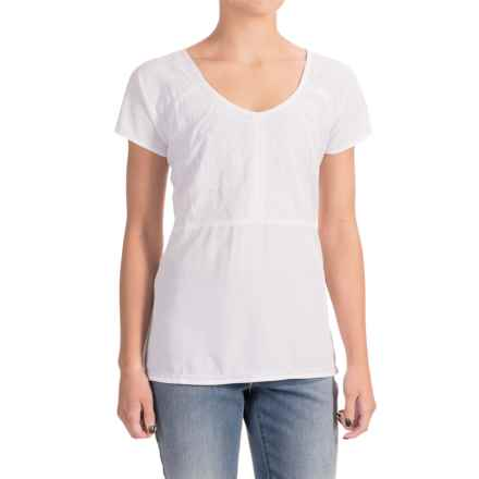 Nomadic Traders NTCO Lucia Embroidered Shirt - Short Sleeve (For Women) in White/White - Closeouts