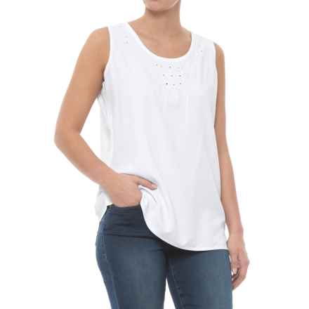 Nomadic Traders NTCO Nuevo Tank Top (For Women) in White/White - Closeouts
