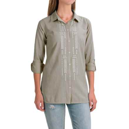 Nomadic Traders NTCO Sedona Embroidered Shirt - Long Sleeve (For Women) in Silver - Closeouts