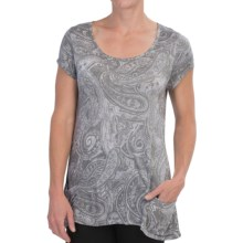 Nomadic Traders Paradiso Shirt - Short Sleeve (For Women) in Silver Paisley - Closeouts
