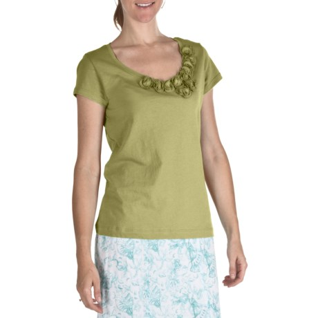 Nomadic Traders Pima Cotton Rosetta T-Shirt - Short Sleeve (For Women) in Citron