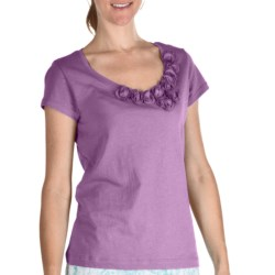Nomadic Traders Pima Cotton Rosetta T-Shirt - Short Sleeve (For Women) in Lilac