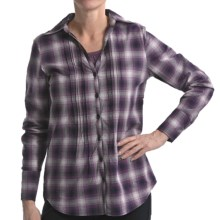 Nomadic Traders Pintuck Shirt - Stretch Cotton, Long Sleeve (For Women) in Plaid - Closeouts