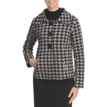 Nomadic Traders Ponti de Roma Swing Jacket - Stretch Knit (For Women) in Houndstooth Jacquard - Closeouts