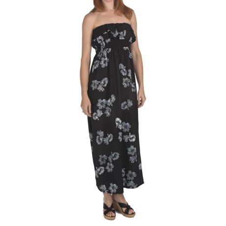 Nomadic Traders Rayon Batik Maxi Dress - Removable Straps (For Women) in Night Bloom