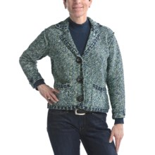 Nomadic Traders Riley Jacket - Knit Tweed (For Women) in Wintergreen - Closeouts