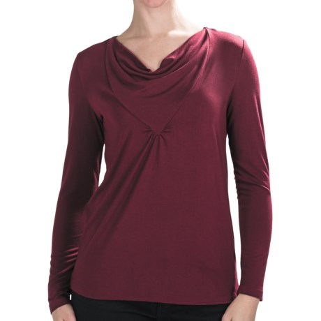 Nomadic Traders Route 66 Greta Shirt - Stretch Jersey, Long Sleeve (For Women) in Bordeaux