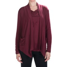 Nomadic Traders Route 66 Zaria Jacket - Stretch Jersey, Open Front (For Women) in Bordeaux - Closeouts