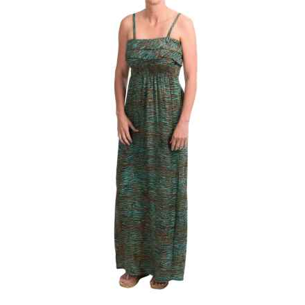 Nomadic Traders Ruffle Batik Maxi Dress - Removable Straps (For Women) in Camino - Closeouts