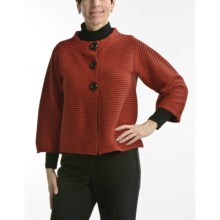 Nomadic Traders Sabrina Crop Jacket - Mandarin Collar (For Women) in Paprika - Closeouts