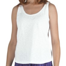 Nomadic Traders Sequin Tank Top - Cotton, Scoop Neck (For Women) in White - Closeouts