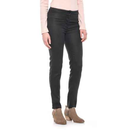 Nomadic Traders Slim Linen Ankle Pants (For Women) in Black - Closeouts